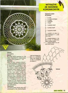 "Photo from album ""Moje robotki on Yandex. Mandala Au Crochet, Crochet Circles, Crochet Diagram, Crochet Stitches Patterns, Crochet Round, Crochet Chart, Crochet Home, Thread Crochet, Crochet Motif"