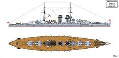 Austro-Hungarian Project III Battleship Design by Tzoli on DeviantArt Naval, Austro Hungarian, Big Guns, Navy Ships, Military Weapons, Aircraft Carrier, Battleship, Dieselpunk, Totoro