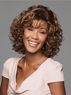 Shop our online store for a selection of curly hair wigs for women. These natural hair and synthetic wigs fit petite, average and large head sizes. Wig styles include curly and wavy textures in a variety of colors, lengths and fibers. Wig Styles, Curly Hair Styles, Natural Hair Styles, Layered Curls, Gabor Wigs, Sandy Blonde, Side Swept Bangs, Womens Wigs, Curly Wigs