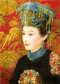 Chinese Beauty by Der Jen (Dezhen) Historical Art, Historical Pictures, Chinese Painting, Chinese Art, Art Asiatique, Creative Pictures, We Are The World, Chinese Culture, Fantastic Art