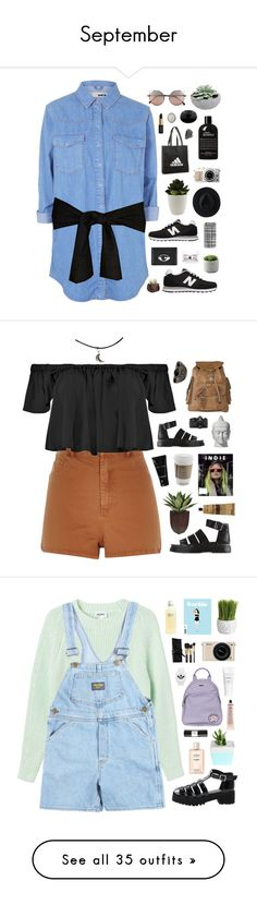 """""""September"""" by amy-lopez-cxxi ❤ liked on Polyvore featuring Topshop, New Balance, Linda Farrow, adidas, philosophy, Kenzo, Ryan Roche, Casetify, David Yurman and River Island"""