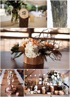 Décoration mariage thème nature simple