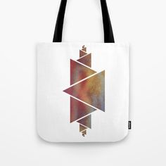 Triangle abstract art Tote Bag by JKdizajn - $22.00
