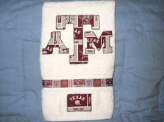 Texas A&M Aggies Hand Towel Bathroom, Kitchen, Bar or Grill, Grad Gift