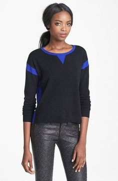 I wanna wrap myself up in this #autumncashmere Two Tone Cashmere Sweatshirt #Nordstrom