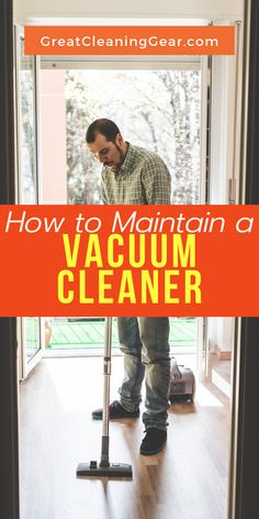 How to Maintain a Vacuum Cleaner. Make sure your vacuum cleaner is regularly checked mainly on a weekly basis to make sure all the parts are working and note the parts that need to be replaced. Best Upright Vacuum Cleaner, Bagless Vacuum Cleaner, Best Vacuum, Cleaning Hacks, Floor Cleaning, Vacuum Reviews, Clean House, Vacuums