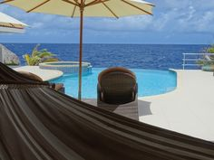 Pool with view over the Caribbean sea