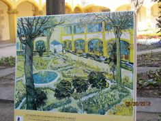 Arles France. This is one of the spots Van Gogh painted, as it shows here.
