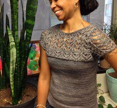 Ravelry: Best Lace Scenario Sweater pattern by Suz Ryan