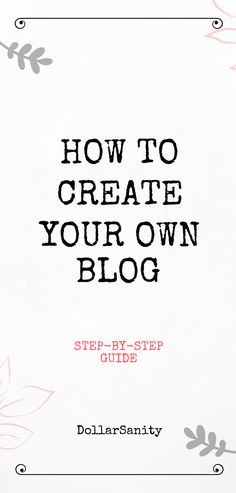 A step by step guide on how to start a blog. Make Money From Home, Way To Make Money, Legit Online Jobs, Create Your Own Blog, Own Website, First Step, Step Guide, Credit Cards, Helpful Hints