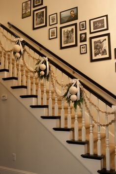 love the stair decor by! Diy all season swag worth dollar store flowers and gems