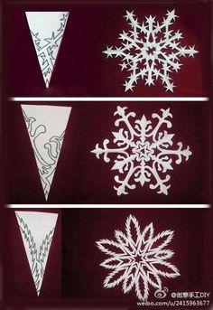 Fayette Woman celebrates Paper Snow Day on Dec 27th.  Cut paper snowflakes