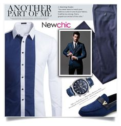 """""""NewChic"""" by jecikilicica ❤ liked on Polyvore featuring H&M, men's fashion and menswear"""