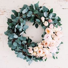 """Eucalyptus + Peony wreath How gorgeous is this? Can you guys believe only 6 days until Christmas?! : @stodarophoto"" Photo taken by @lynleeposton on Instagram, pinned via the InstaPin iOS App! http://www.instapinapp.com (12/19/2015)"