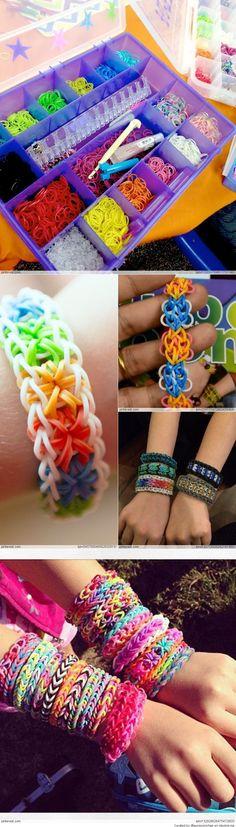Amazing Rainbow Loom Ideas. @Shannon Bellanca Bellanca Bellanca Bellanca O'Connor