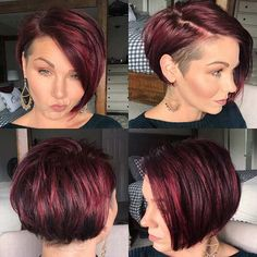 Discover the Best Short Hair Styles That You Can Adopt For The New Season New Hairstyle Trends Cool Short Hairstyles, Pixie Hairstyles, Pixie Haircut, Pretty Hairstyles, Bob Haircuts, Undercut Bob Haircut, Short Hair Cuts, Short Hair Styles, Short Hair With Undercut