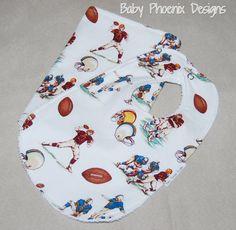 Football Bib and Burp Cloth Set - Terry Cloth or Chenille - baby boy gift - burp cloth - bib - gift set #handmade #etsyretwt