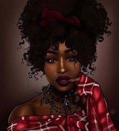 Sexy Black Art, Black Love Art, Black Girl Art, My Black Is Beautiful, Black Girls Rock, Black Girl Magic, Art Girl, Natural Hair Art, Natural Hair Styles