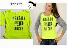 DIY: tshirt sewn raglan sweatshirt