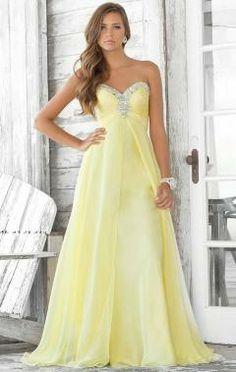 in pale blue or mint would look noice... school ball dress
