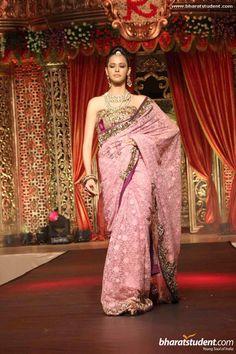 Vikram Phadnis lilac sari
