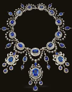Sapphire and Diamond Necklace by Mellerio dits Meller