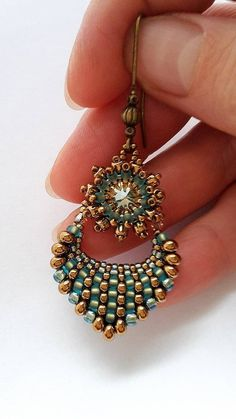 Náušnice - Pod hladinou...III.(mini) - 8101773_ #beadedjewelry
