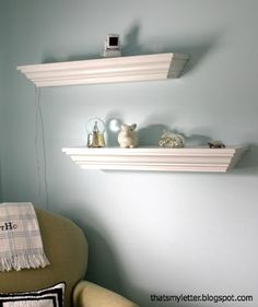 DIY Crown Molding Ledges/ shelves