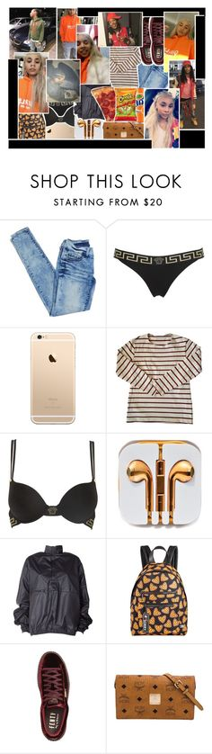"""""""❝ αided up, αdd it up i just αte α plαte for breαkfαst put it in α cup then i mix it up with texαs. ❞"""" by y-oungin ❤ liked on Polyvore featuring Versace, American Apparel, adidas Originals, Circus by Sam Edelman, Puma, MCM and TheTCameronshow"""