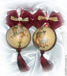 """Дуэт шаров """"Ребячьи забавы"""" - шар,шары,шары на елку,шары новогодние,елочные игрушки"""