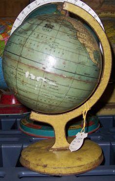 untitled. [7 inch World globe] , Globe Maker: J. Chein & Co.; Cartographer: Chein, J. & Co. (Published: J. Chein & Co. c1936. Burlington, NJ)