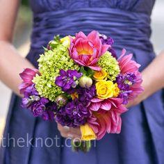 Colorful Bridesmaid Bouquet
