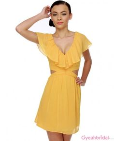 mother of the bride dress, mother dress yellow
