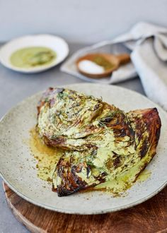 Looking for Cabbage recipes? Try our delicious and easy Charred Miso Cabbage with Green Tahini Sauce. This will serve 4 as a side to a larger meal. Vegetarian Recipes, Cooking Recipes, Healthy Recipes, Vegetarian Options, Cabbage Recipes, Mediterranean Recipes, Tahini Sauce, Food Inspiration, Kitchen