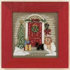 Winter Woods Beaded Cross Stitch Kit 2011 Mill Hill Buttons /& Beads