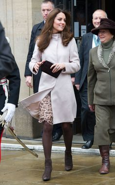 Blown Away from Kate Middleton's Many, Many Maternity Coats  Just days before her first pregnancy announcement, the Duchess keeps warm in a sleek over coat.