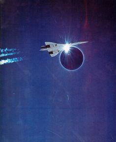 During the June 30 1973 solar eclipse a specially modified Concorde flew under the moon& shadow for a record 70 plus minutes. This photo was shot from below by a Boeing chase plane. Concorde, Perfect Timed Pictures, Eclipse Totale, Jet Privé, Photo Avion, Speed Of Sound, Moon Shadow, Under The Moon, Total Eclipse