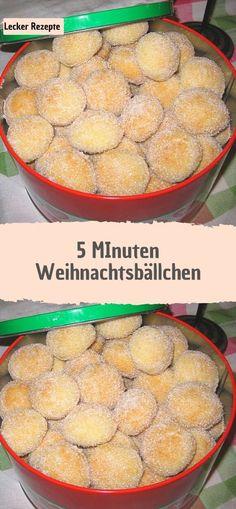5 MInuten Weihnachtsbällchen - Rezepte