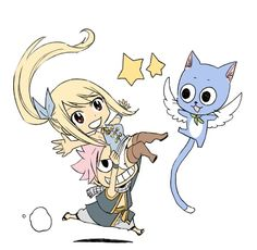 Fairy Tail - Natsu, Lucy and Happy