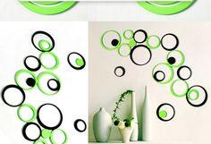 Fashion Wall Decoration Diy TV Backdrop Polka Ring