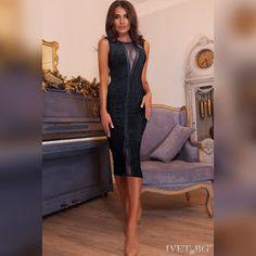 2275971d1ab Εντυπωσιακό μίντι μαύρο φόρεμα DULSINEA