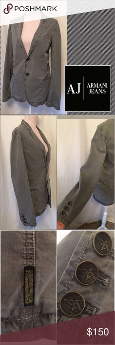 🎉sale Armani Jeans Single Breasted Jacket Make an offer!! Armani Jeans Grey Cotton Blend Single Breasted Jacket. EUC! Armani Jeans  Jackets & Coats
