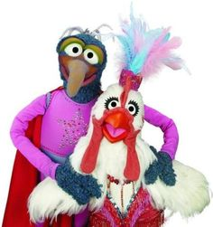 The Great Gonzo and Camilla! #muppets #sesame street #muppet show