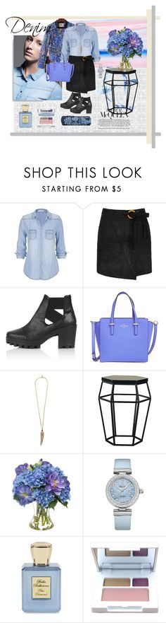 """""""Denim"""" by fabiana-fellini ❤ liked on Polyvore featuring maurices, WithChic, Topshop, Kate Spade, Roberto Cavalli, Diane James, OMEGA, Bella Bellissima, Clinique and Vera Bradley"""