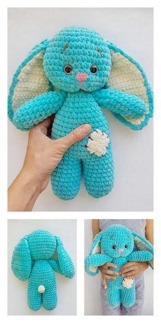 Easter Crochet Patterns, Crochet Bunny Pattern, Crochet Amigurumi Free Patterns, Afghan Crochet Patterns, Crotchet Animals, Easter Toys, Easter Bunny, Puppet Patterns, Stuffed Animal Patterns