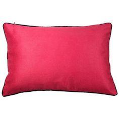 Almofada Camurça Pink com vivo marinho (rim)