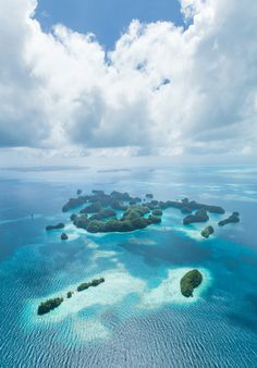 visitheworld: Aerial view of paradise, Palau Islands, Micronesia (by ippei + janine). Places To Travel, Places To See, Travel Destinations, Paradise Island, Dream Vacations, Vacation Spots, Vacation Deals, Places Around The World, Around The Worlds