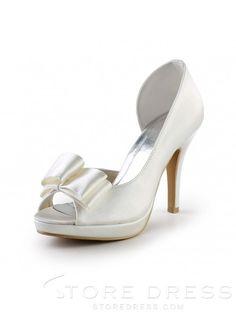Elegant Womens Handmade Sweet Leather Butterfly Wedding High Heel Shoes at Storedress.com