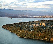 Aerial photo of the University of BC, looking east to English Bay, downtown Vancouver, Stanley Park and the Coast mountains University Of British Columbia, Vancouver British Columbia, Downtown Vancouver, Citizenship Canada, Canadian Universities, Concordia University, Dartmouth College, Government Of Canada