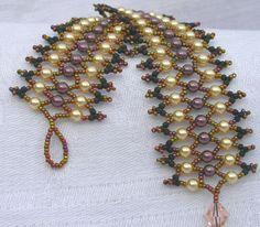 Free Seed Bead Bracelet Patterns | Pearl Lace Bracelet 1.2 x desired length